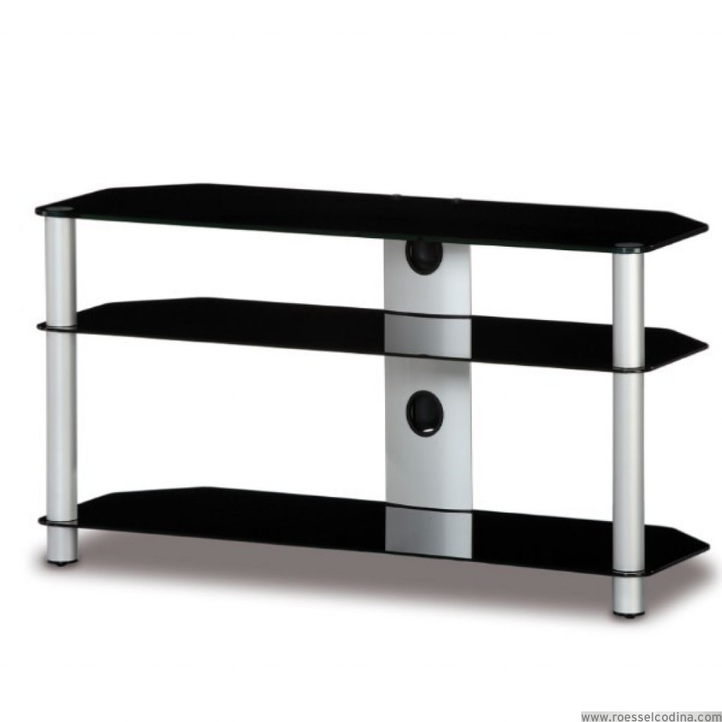 Roesselcodina product mueble tv de 3 estantes neo 3110 ng for Mueble 3 estantes