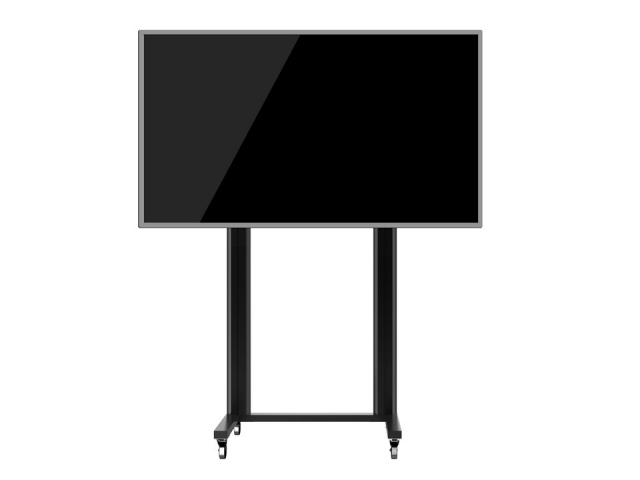 Peana TV DISPLAY STAND 210-Wheels (210 cms de altura). Negro.