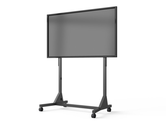 Peana TV FLOORSTAND 130-Wheels (186 cms de altura). Negro.