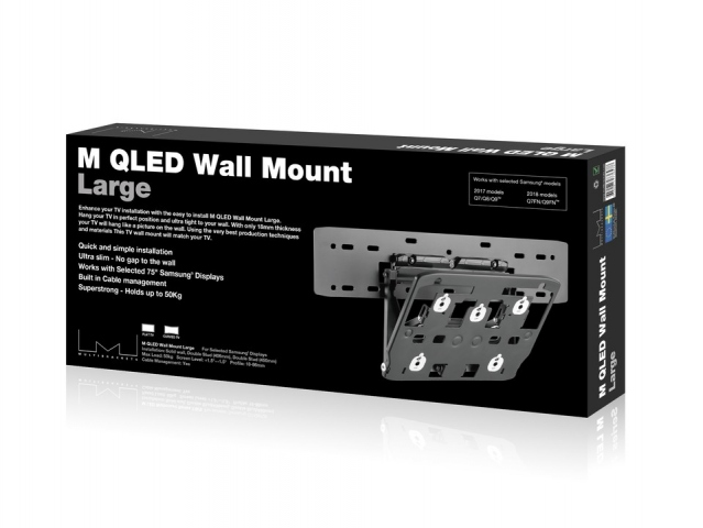 "Wallmount QLED 7/8/9 LARGE -  Soporte TV de pared inclinable. Separación de la pared: 1,8-9,6  cms. Para TV Qled series 7/8/9 de 75""."