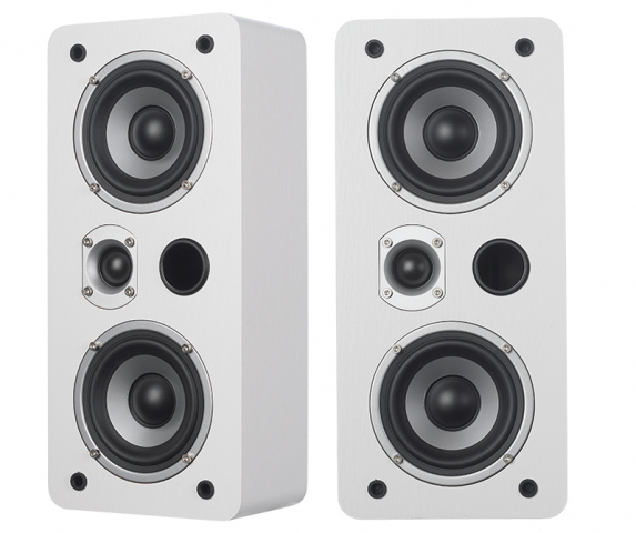 Altavoces de estantería o de pared MAGIC LCR-4 v.3. Blanco.