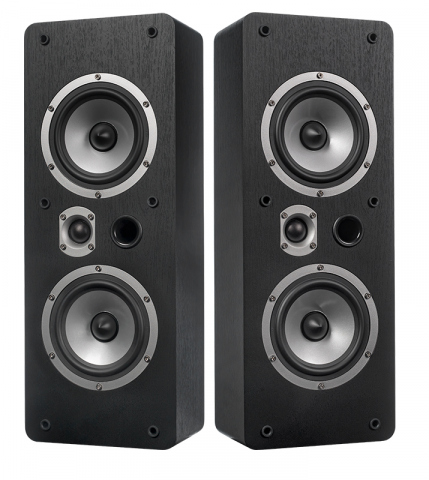 Altavoces de pared o techo MAGIC LCR-5 v.3. Negro.
