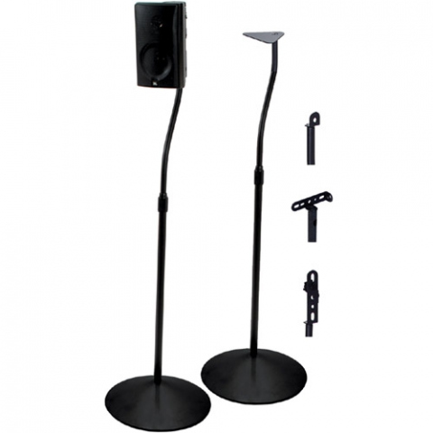 BTV910 -  Pareja de soportes para altavoces surround. Color negro.
