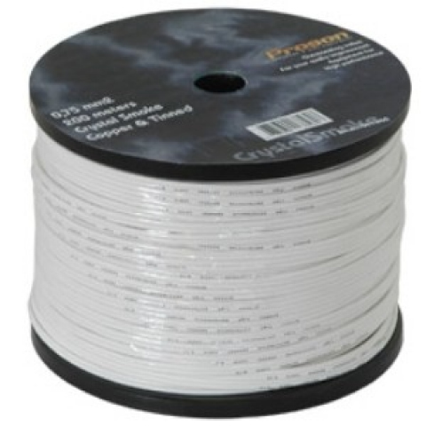 PRB075/1 - Cable de altavoz OFC. 2x0,75mm. Blanco.