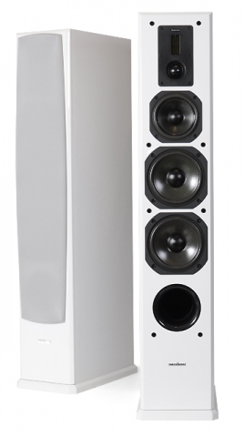 Altavoces de suelo DEFINITION DF-6. Blanco.