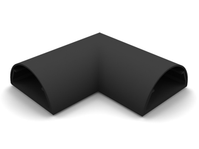 ANGLE COVER PARED-33N - Angulo ocultacable para pared. Ancho:33mm C/NEGRO