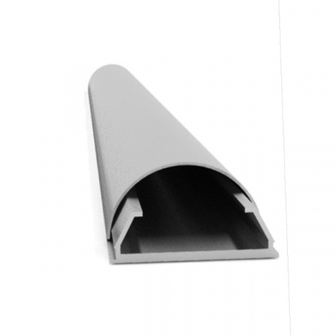 CABLE COVER 50/160G - Canaleta ocultacables de aluminio. Ancho: 50mm. Largo: 160 cms C/GRIS