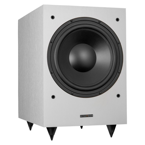 "Subwoofer amplificado de 10"" MAGIC MW10. Blanco."