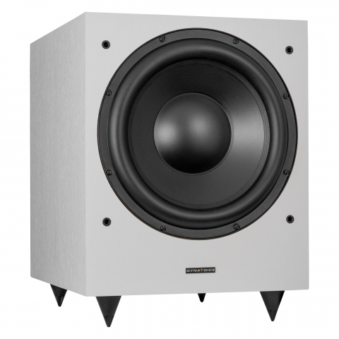"Subwoofer amplificado de 12"" MAGIC MW12. Blanco."